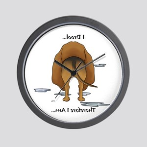 Bloodhound Butt - I Drool Wall Clock